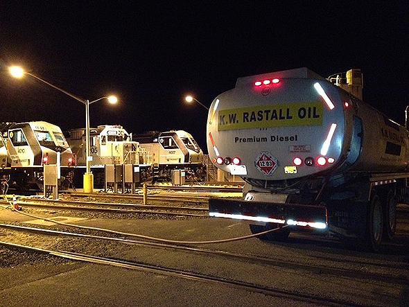 train-refueling